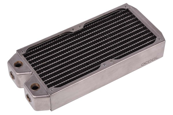 Alphacool NexXxoS XT45 Full Copper 240mm radiator - silver nickel