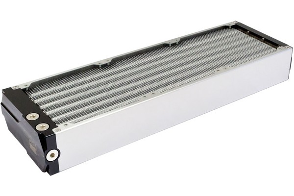 Aquacomputer airplex modularity system 420 mm, aluminum fins, one circuit, stainless steel side panels