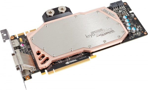 Aquacomputer graphic card GeForce GTX 980, 4 GB GDDR5 with installed kryographics für GTX 980