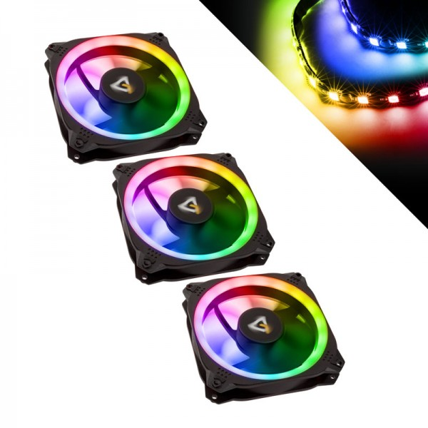 Antec Prizm 120 ARGB 3+2+C 120mm case fan RGB LED (120x120x25mm) - 3er Pack