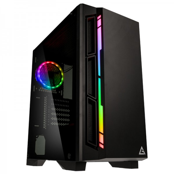 Antec NX400 0-761345-81040-1 Midi-Tower Gaming PC case RGB incl. window - black