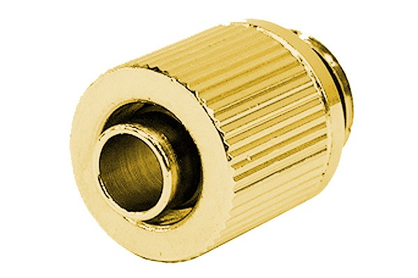 10/8mm (8x1mm) compression fitting outer thread 1/4 - compact - gold plated