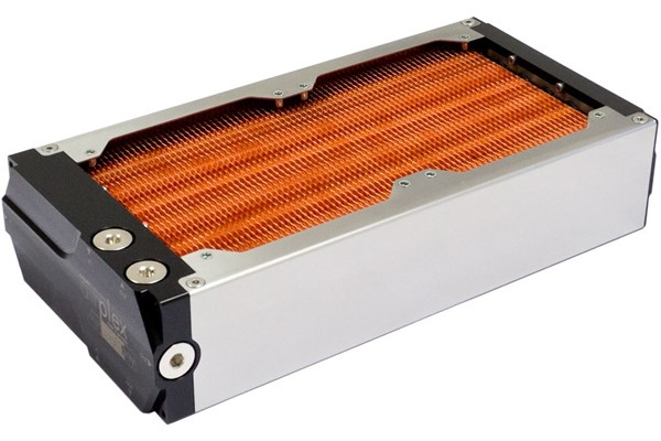Aquacomputer airplex modularity system 240 mm, copper fins, one loop, stainless steel side panels