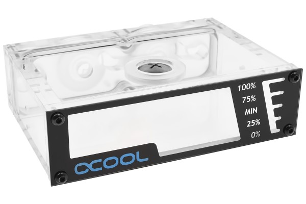 Alphacool Repack - Dual DC-LT - 5,25 Single Bay Station – without pump