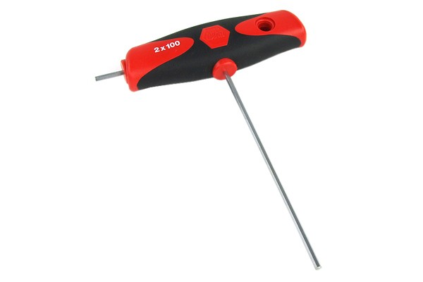 Wiha T-handle screwdriver 2mm with side key