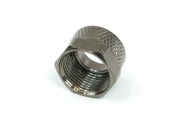 union nut 10mm - black nickel