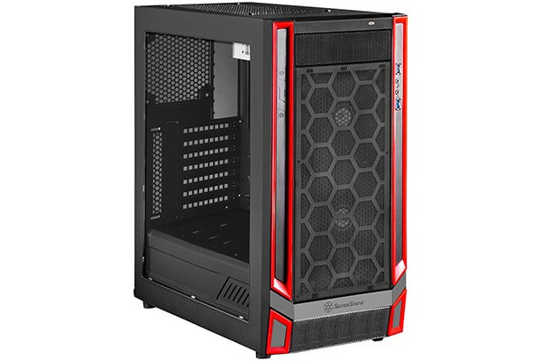 Silverstone SST-RL05BR-W 3.0 Redline Midi-Tower - black/red