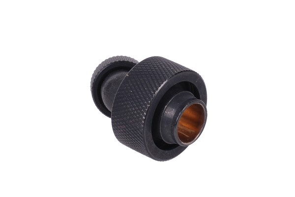 19/13mm compression fitting 45° revolvable G1/4 - knurled - matte black