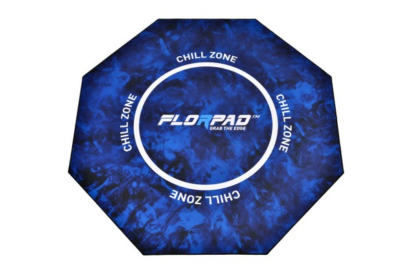 Florpad Chill Zone Gamer-/eSports floor protection mat - blue, soft, Core