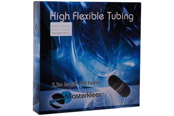 "Masterkleer tubing PVC 13/10mm (3/8""ID) Ultra clear 3,3m (10ft) ""Retail Package"" (BPA free)"