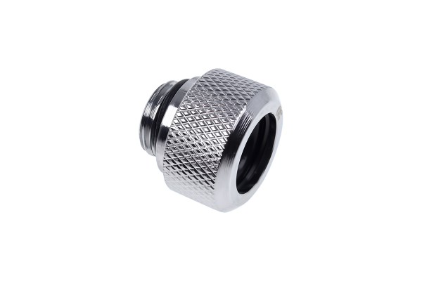 Alphacool Eiszapfen 13mm HardTube compression fitting G1/4 for plexi- brass tubes (rigid or hard tubes) - knurled - chrome