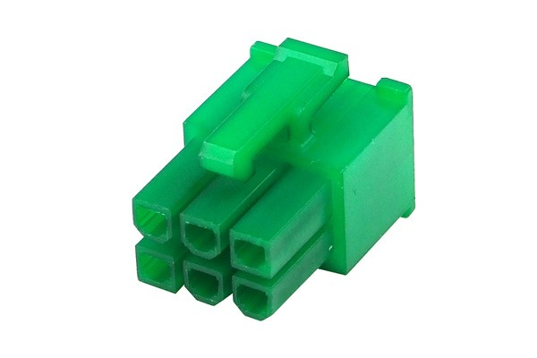 mod/smart VGA Power Connector 6Pin plug – UV-reactive green (hexagonal)