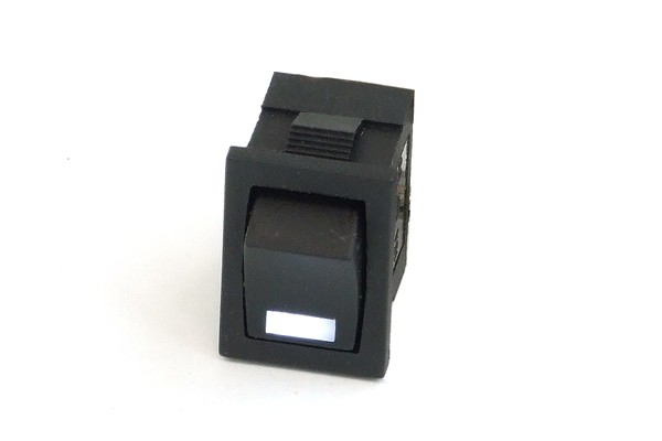 Phobya rectangular toggle switch - LED white - unipolar ON/OFF black (3-Pin)