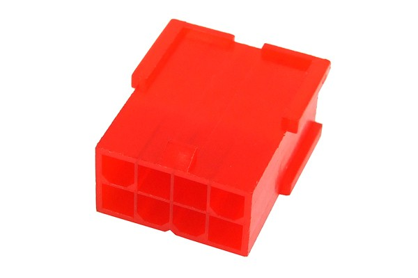 mod/smart ATX Power Connector 8Pin socket - UV-reactive red