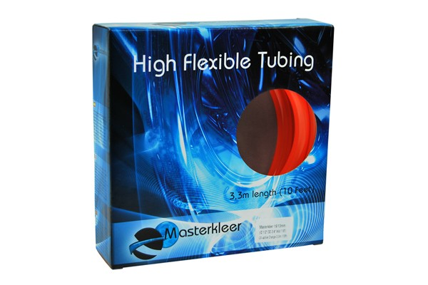 "Masterkleer tubing PVC 19/13mm (1/2""ID) UV-reactive orange 3,3m (10ft) ""Retail Package"""