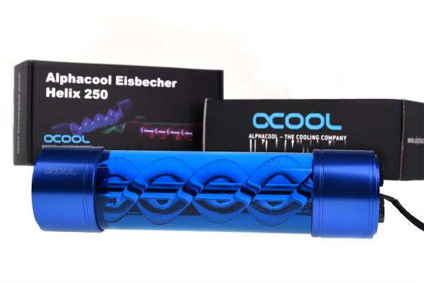 Alphacool Eisbecher Helix 250mm reservoir - blue