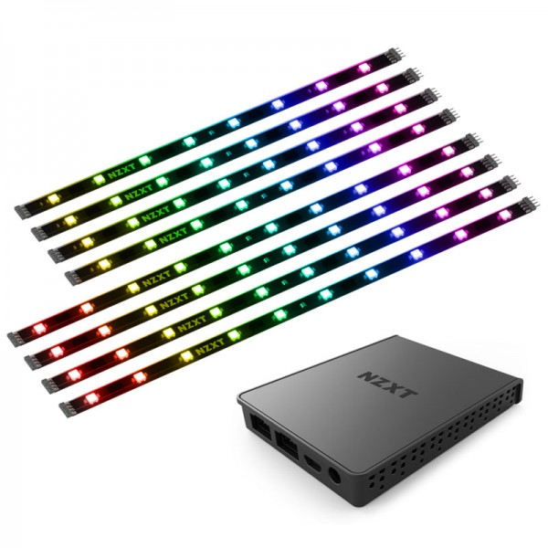 "NZXT Hue 2 Ambient V2 RGB Lighting Kit 26-32"" LED strips for displays - black"