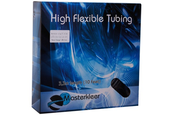 "Masterkleer tubing PVC 19/13mm (1/2""ID) Ultra Clear 3,3m (10ft) ""Retail Package"" (BPA free)"