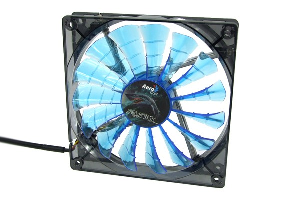 Aerocool Shark Fan Blue Edition - transparent black - blue LED (120x120x25mm)