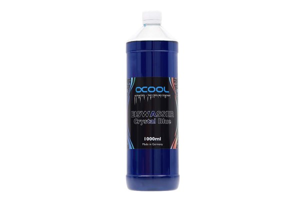 Alphacool Eiswasser Crystal Blue UV-active premixed coolant 1000ml