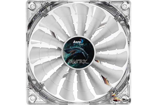 Aerocool Shark Fan Great White Edition - White (140x140x25mm)