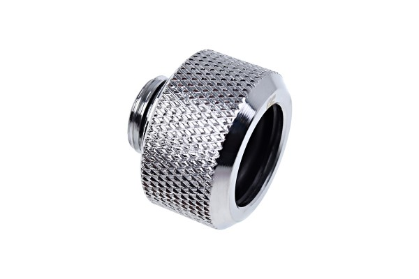 Alphacool Eiszapfen 16mm HardTube compression fitting G1/4 for plexi- brass tubes (rigid or hard tubes) - knurled - chrome