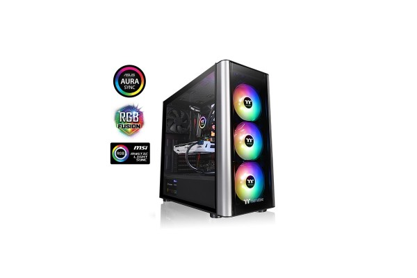 Thermaltake Level 20 MT Midi Tower ARGB schwarz - Midi/Minitower - ATX