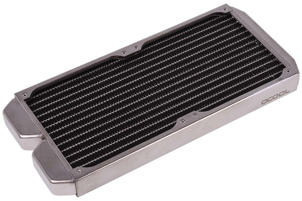 Alphacool NexXxoS ST30 Full Copper 280mm radiator - silver nickel