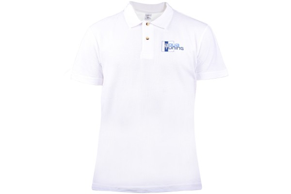 Aquatuning Woman Polo-Shirt white with logo (www.aquatuning.com) size M
