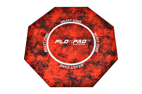 Florpad Beast Zone Gamer-/eSports floor protection mat - red, soft, Core