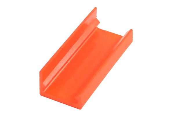 mod/smart SATA Power Connector end cap for 90° 16Pin - UV-reactive brite orange