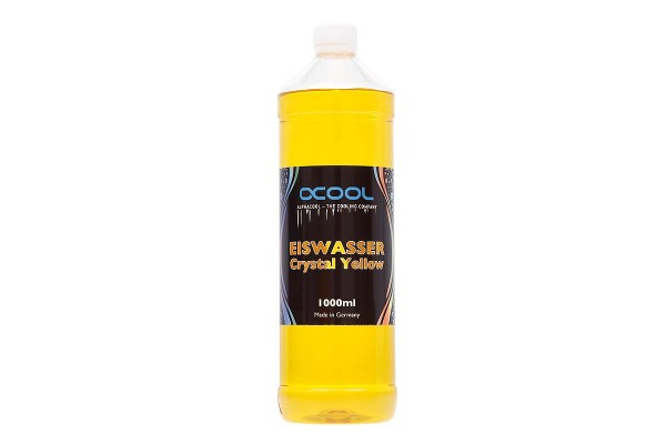 Alphacool Eiswasser Crystal Yellow premixed coolant 1000ml