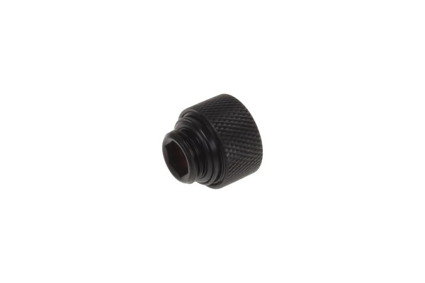 Alphacool Eiszapfen 12mm HardTube compression fitting G1/4 - knurled - deep black