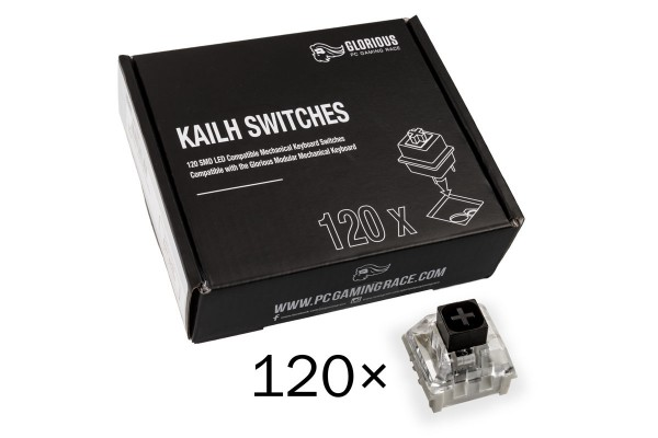 Glorious PC Gaming Race Kailh Box Black Switches (120 pcs)