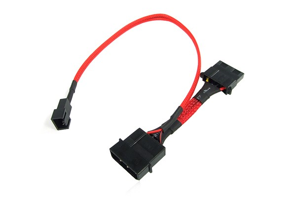 adaptor 4Pin (12V) to 3Pin (7V) 30cm - UV red