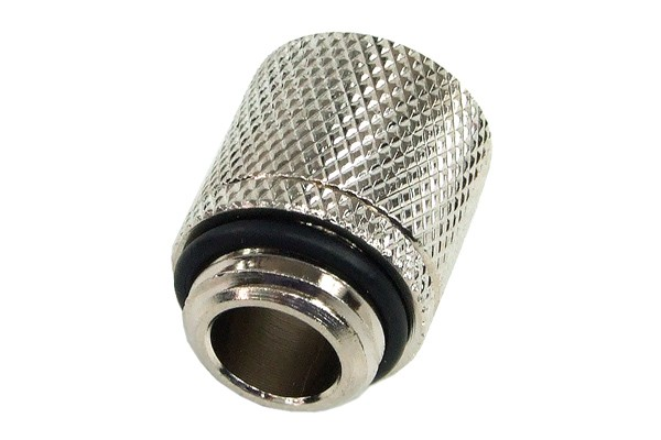 10/8mm (8x1mm) compression fitting outer thread 1/4 - knurled silver