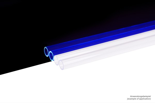 Alphacool HardTube 13/10mm plexi clear UV-Blue 80cm - 4pcs