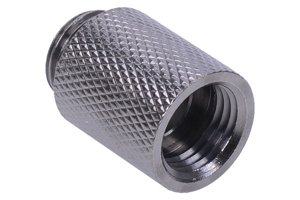 Extension G1/4 to G1/4 25mm - knurled - black nickel plated