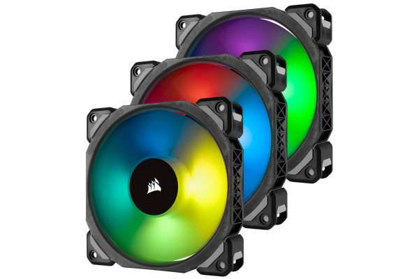 Corsair ML Series ML120 Pro RGB LED case fan 120mm - 3er Pack (120x120x25mm)