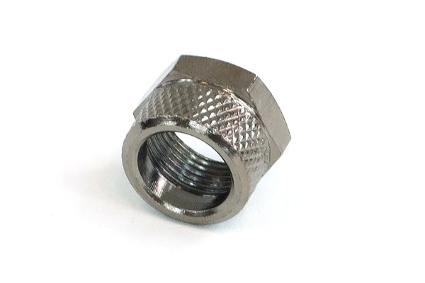 Union nut 11mm black nickel