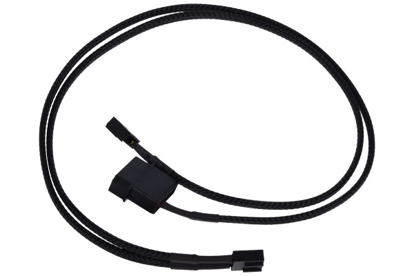 Phobya Y-cable for PWM splitter 4Pin PWM to 4Pin PWM & 4Pin Molex 50cm - black