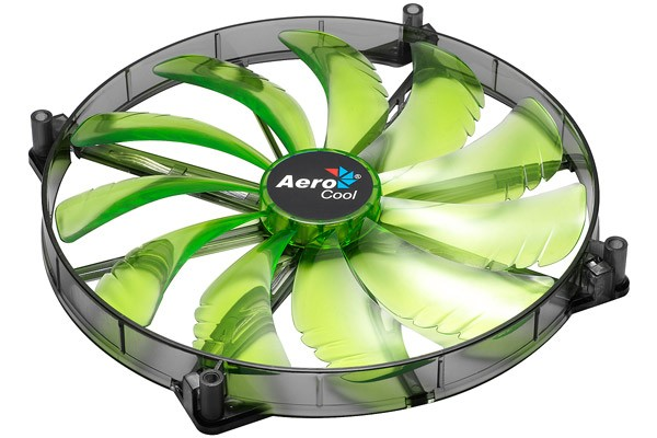 Aerocool Silent Master 200 - Green LED (200x200x20mm)