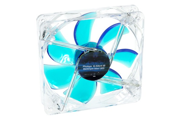 Phobya G-Silent 12 1500rpm Blue LED ( 120x120x25mm )
