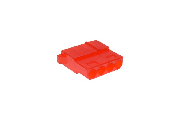 mod/smart PSU Power Connector 4pin Molex plug - UV-reactive red
