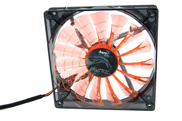 Aerocool Shark Fan Black Evil Edition - transparent black – orange LED (120x120x25mm)