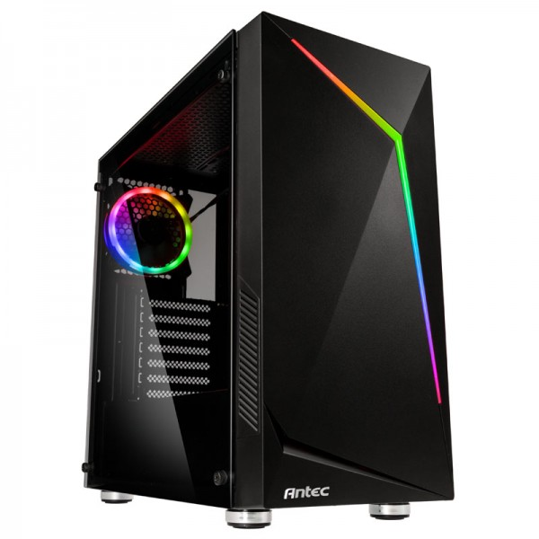 Antec NX300 0-761345-81030-2 Midi-Tower Gaming PC case incl. window - black