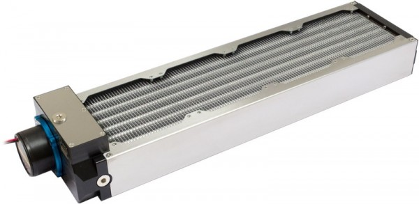 Aquacomputer airplex modularity system 480 mm, aluminum fins, D5 pump, stainless steel side panels