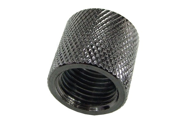 Bushing G1/4 to G1/4 – knurled – black nickel