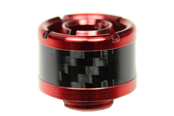 "ModMyToys 16/10mm (ID 3/8"" OD 5/8"") compression fitting straight - Red + Black Carbon"