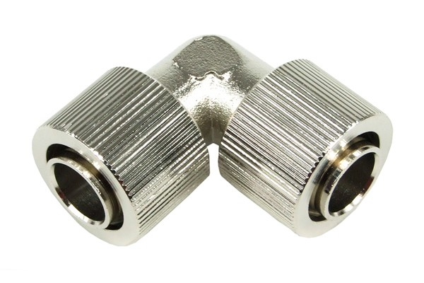 16/13mm L hose connector – compact – silver nickel plated